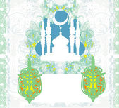Abstract religious background - Ramadan Kareem Vector Design — Vector de stock