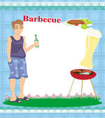 Barbecue Party Invitation with place for your text — Stock Vector