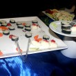 Mix of Japanese sushi and rolls on the plate — Stok fotoğraf