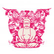 Wektor stockowy : Vector of Chinese Traditional Artistic Buddhism Pattern