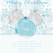 Christmas Framework style with baubles card — Stock Vector