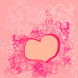 Abstract romantic background with hearts — Stock Vector