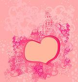 Astratto sfondo romantico con cuori — Vettoriale Stock