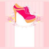 Affiche chaussures — Vecteur