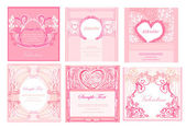 Valentine's day. Vector cards set — Stock Vector