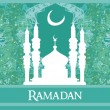 Ramadbackground - mosque silhouette vector card — Stock Vector #41496501