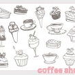Stock Vector: Sweet food design elements