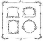 Vintage frame set doodle — Stock Vector