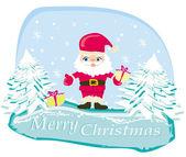 Christmas Santa Claus card — Stock Vector