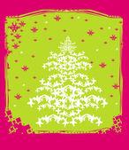 Christmas tree abstract card — Stock Vector