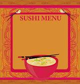 Modèle de menu de la cuisine japonaise traditionnelle — Vecteur