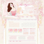 Fashion shopping Website template — Stock Vector