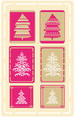 Christmas Tree Design Set — Stock Vector