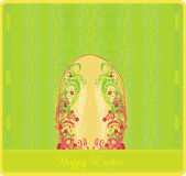 Easter greeting card with decorative egg — Stock Vector