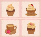 Menu coffeeshop kaartenset — Stockvector