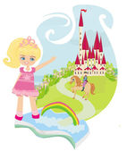 Magic book with a beautiful fairy tale — Stock Vector