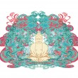 Cтоковый вектор: Vector of Chinese Traditional Artistic Buddhism Pattern