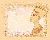 旧纸与埃及女王 — 图库矢量图片