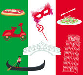 Vector set of italy icons  — Stock Vector