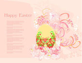Easter Egg On Grunge Background — Stock Vector