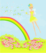 Beautiful fairy vector graphic  — Stock Vector
