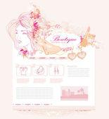ファッション ショッピング サイト テンプレート — ストックベクタ