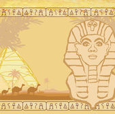 Abstract grunge frame - Great Sphinx of Giza — Stock Vector
