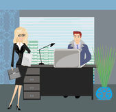 Formally dressed people in office, business meeting — Vector de stock