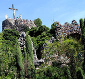 Sanctuary of Our Lady in Lichen - Poland, Golgotha — Stock Photo