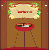 Barbecue Party Invitation — 图库矢量图片