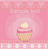 Lovely Cupcake Design card — Stock Vector