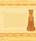 Stylized Egyptian cat  — Stock Vector