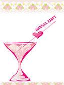 Einladung zum geburtstag-cocktail-party — Stockvektor