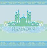 художественный узор фона с мечетью — Cтоковый вектор
