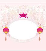 Decorative Chinese card — Stockvektor
