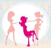 Girl in a beauty salon  — Stock Vector