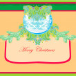 Christmas Framework with bauble style card — Stockvector