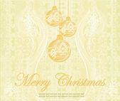 Christmas Framework - retro style card. vector illustration.  — Vector de stock