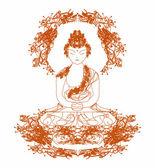 中国の伝統的な芸術的な仏教パターン ベクトル — ストックベクタ
