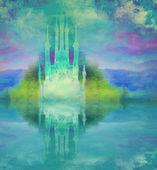 Abstract fairytale castle — Stock Photo