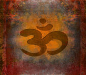 Om aum symbol on a grunge texture — Stock Photo