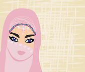 Arabian woman portrait — Stock Vector