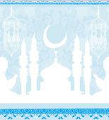 Abstract religious background - Muslim men praying  — Vetorial Stock
