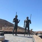 Monument near village Betancuria, Canary Island Fuerteventura, S — Stock Photo #46264401