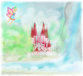 Magic Fairy Tale Princess Castle  — Stock Photo