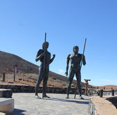 Monument near village Betancuria, Canary Island Fuerteventura, S — Stock Photo