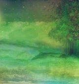 Bosque de la noche en la montaña — Foto de Stock