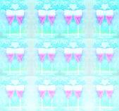 Glasses of champagne pattern — ストック写真