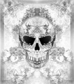 Day of The Dead, Skull with floral ornament — Stock Photo