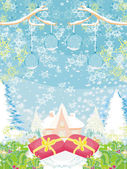 Abstract Christmas landscape — Stock Vector